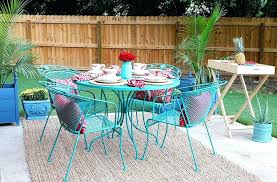 how to paint a wrought iron patio set with chalk by turquoise outdoor chair chairs makeover