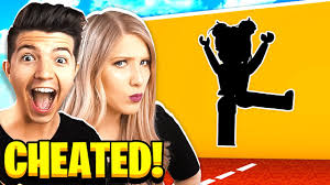 I CHEATED! BOY vs GIRL ROBLOX HOLE IN THE WALL ...
