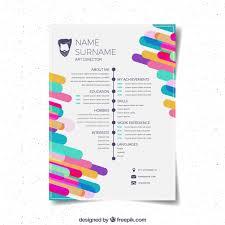 Curriculum Vitae Tamplates Flat Curriculum Vitae Template Vector Free Download