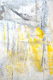 grey and yellow abstract art by t30 gallery