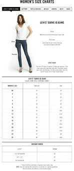 Levi Size 14 Chart 7 Best Sizing Chart For Womens Jeans Images Jeans Brands