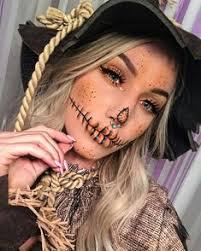 pretty scarecrow mak pretty scarecrow makeup idea for