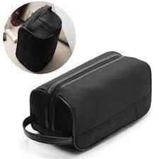 fashion new portable men black travel waterproof makeup toiletry bag wash shower cosmetic organizer nylon casual s l handbags personalized cosmetic bags