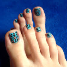 Turquoise Toe Nail Designs Cheetah Print Nail Art Design Toenails Turquoise Polish