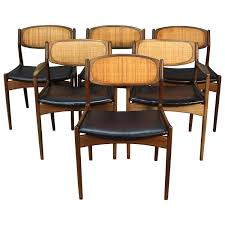 danish modern dining room chairs. Room · Set Of Six Danish Modern Selig Walnut Dining Chairs