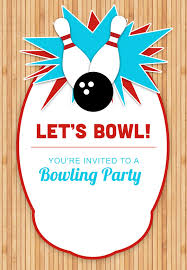 Birthday Invitation Party Bowling Party Invitation Template Free In 2019 Bowling