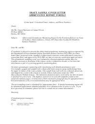 Letter Report Format