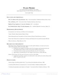 American Curriculum Vitae Format Curriculum Vitae Example Researcher Art History