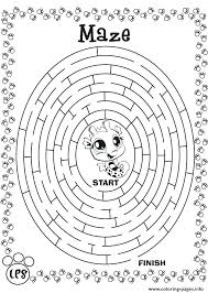 Carnival Games Coloring Pages Interactive Coloring Pages Maze Game