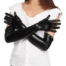 2 colors women s y faux long leather gloves fashion black las y elbow gloves s clubwear party costume accessory