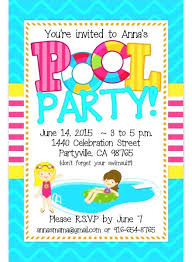 free printable birthday party invitations for girls free printable birthday pool party invites girls invitations or