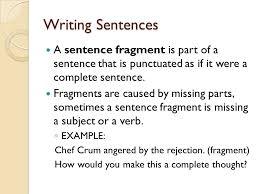 Sentence Fragments Sentence Fragment Examples Writing A Check