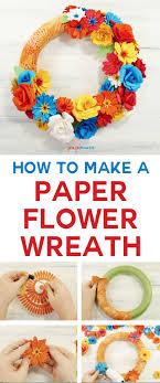 paper flower wreath cricut explore handmade paper flowers