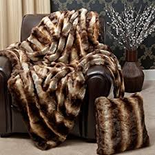 Chinchilla Faux Fur Throw Blanket