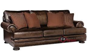 foster leather sofa with down blend cushions by bernhardt in 203 020