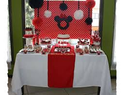 Minnie Mouse Birthday Minnie Mouse Red Black White Dessert