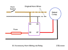 distribution block wiring with stebel suzuki sv650 forum sv650 Horn Wiring Harness Location Sv650 then supply the new power feed via the fuse & relay contacts and a new ground to the horn itself Engine Wiring Harness
