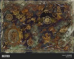 Beautiful Map Pirate Image Photo Free Trial Bigstock