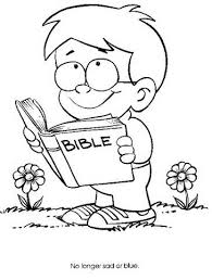 Small Picture Reading Scriptures Coloring PagesScripturesPrintable Coloring