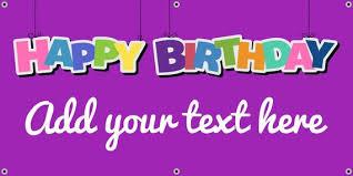 Purple Happy Birthday Banner Purple Happy Birthday Banner Etsy