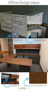 white walnut office furniture. Office Design Ideas | Sustainable Furniture Install Of A Reception Desk With Reclaimed White Washed Walnut