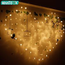 Lights For Us 16 39 41 Off 2x1 5m Heart Shape Led Christmas Lights For Weeding Love Home Decoration 128 Leds Icicle Curtain Fairy String Lights In Led String