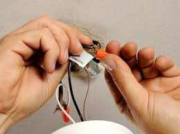pull the wires through ceiling box and remove electrical tape or wire nuts from black hot wire white neutral and if present how to track lighting e13 wire