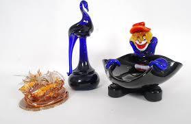 lot 142 a murano style glass clown ashtray alon