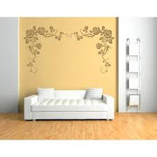 rose wall decal rose wall sticker flower headboard wall decal girls bedroom home decor rose gold rose wall decal