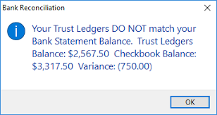 Check Ledgers Your Trust Ledgers Do Not Match Your Bank Statement Balance