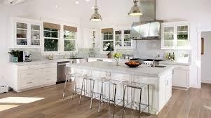 classic white kitchen with princess white granite countertops