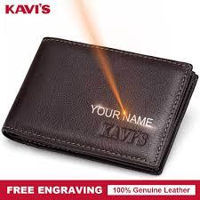kavis cow genuine leather credit card holder 14 card slot gift men women business purse id wallet travel for credit case driver