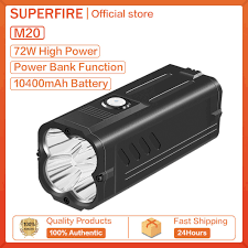 Đèn Pin Supfire M20 (80W) LED (P50 * 4) Rọi Sáng Công Suất Cao 6000LM Xa  Chống Nước Ngoài Trời - Đèn pin