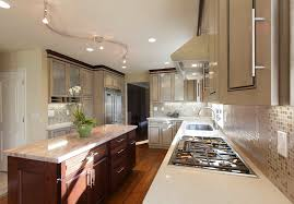 contemporary track lighting kitchen transitional with caesarstone ceiling lighting crown image by de anza interior