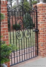 Small Picture ornamental garden gates design Fence Co Custom Wrought Iron
