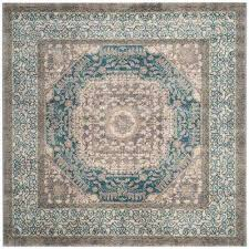 sofia light gray blue 7 ft x 7 ft square area rug