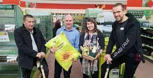 haskins garden centre in roundstone donates gardening equipment to meadowfield hospital s mental health ward