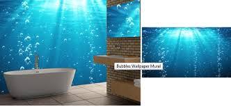 Special Modern Design Waterfall Scenery Waterproof 3D Bathroom Bathroom Wallpaper Murals