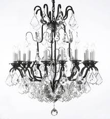 amusing black traditional chandelier 18 alvarado 16 light crystal