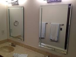 Frameless Mirror For Bathroom Frameless Beveled Mirror Tiles Harpsoundsco