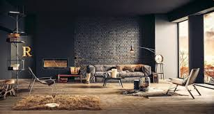 industrial style living room furniture. 25 Phenomenal Industrial Style Living Room Designs With Brick Walls Furniture