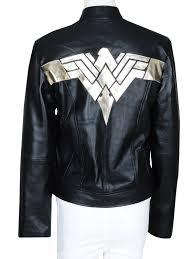 wonder women logo jacket black leather jacket wonder women logo
