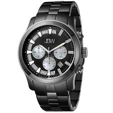 jbw men s black ion plated steel delano chronograph diamond jbw men s black ion plated steel delano chronograph diamond watch