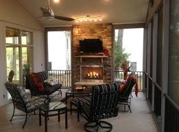 outdoor deck fireplace kc screened porch floor pictures