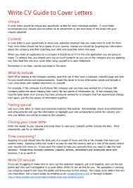 Cover Letters That Worked Write Cv Guide To Cover Letters