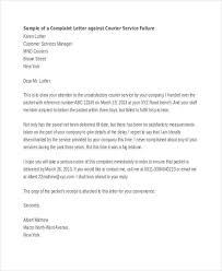 complaint letter samples service failure complaint letter