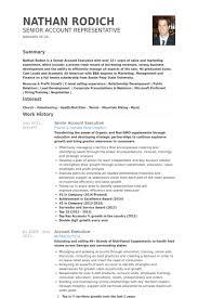 Cv Account Senior Account Executive Resume Example Executive Resume