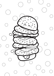 Coloriages Archives Smiley Meals Hamburger Coloriage Colorier