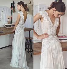 boho dresses wedding. Discount Boho Wedding Dresses Lihi Hod 2017 Bohemian Bridal Gowns