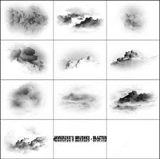 Cloud Photoshop Brushes 10 Cloud Brush Photoshop Brushes In Photoshop Brushes Abr Abr